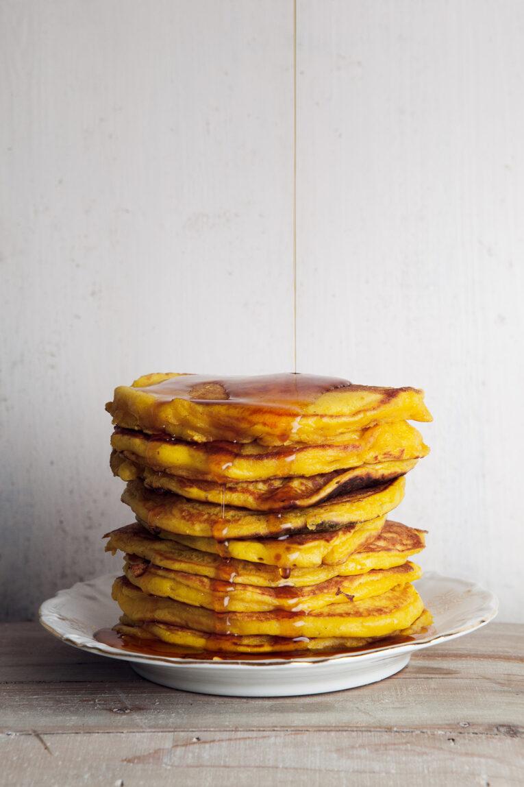 Amerikanska pannkakor med saffran