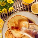Amerikanska pannkakor med citron och vallmofrön