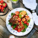 Halloumisallad-jordgubbar