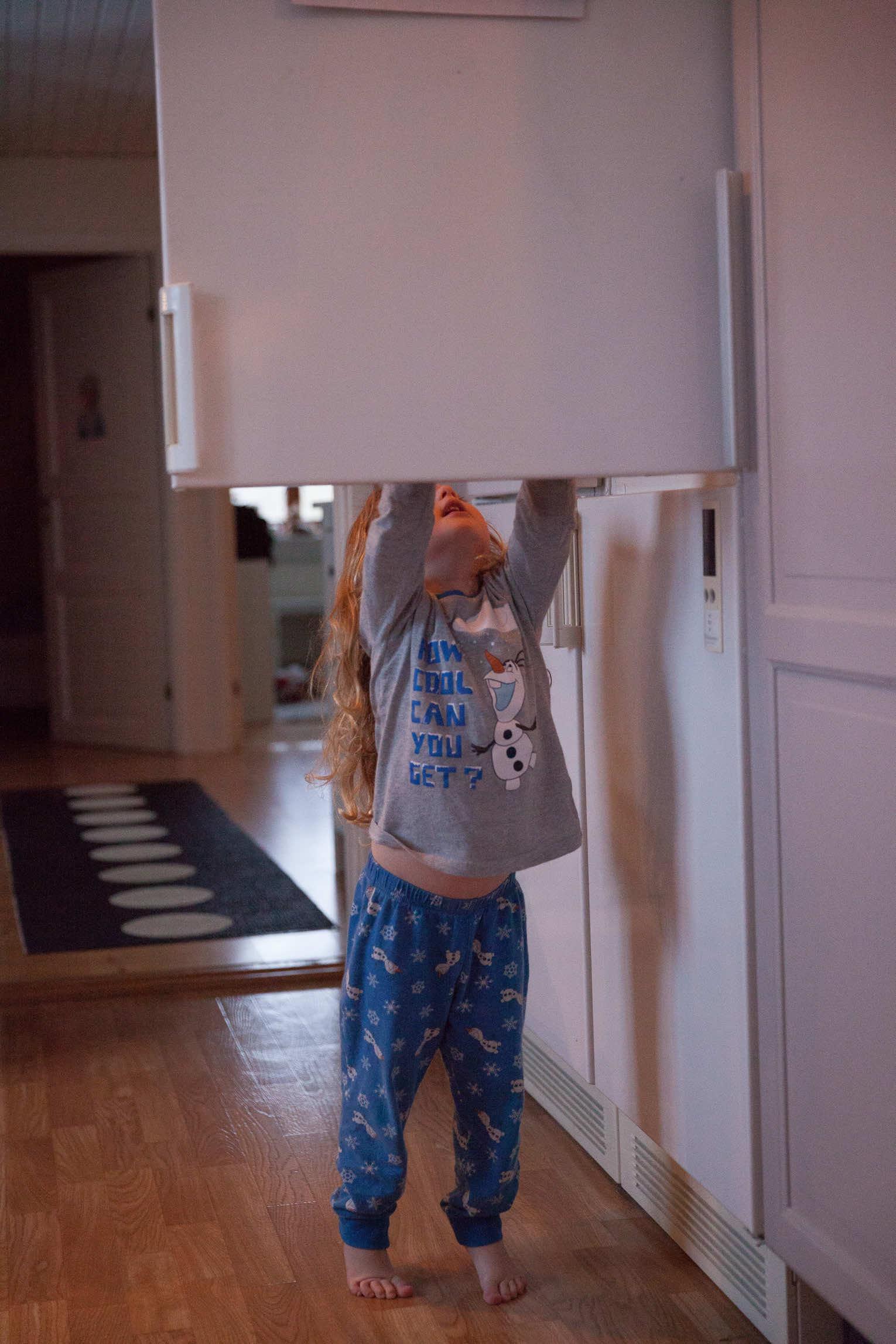 Leta i kylskåpet