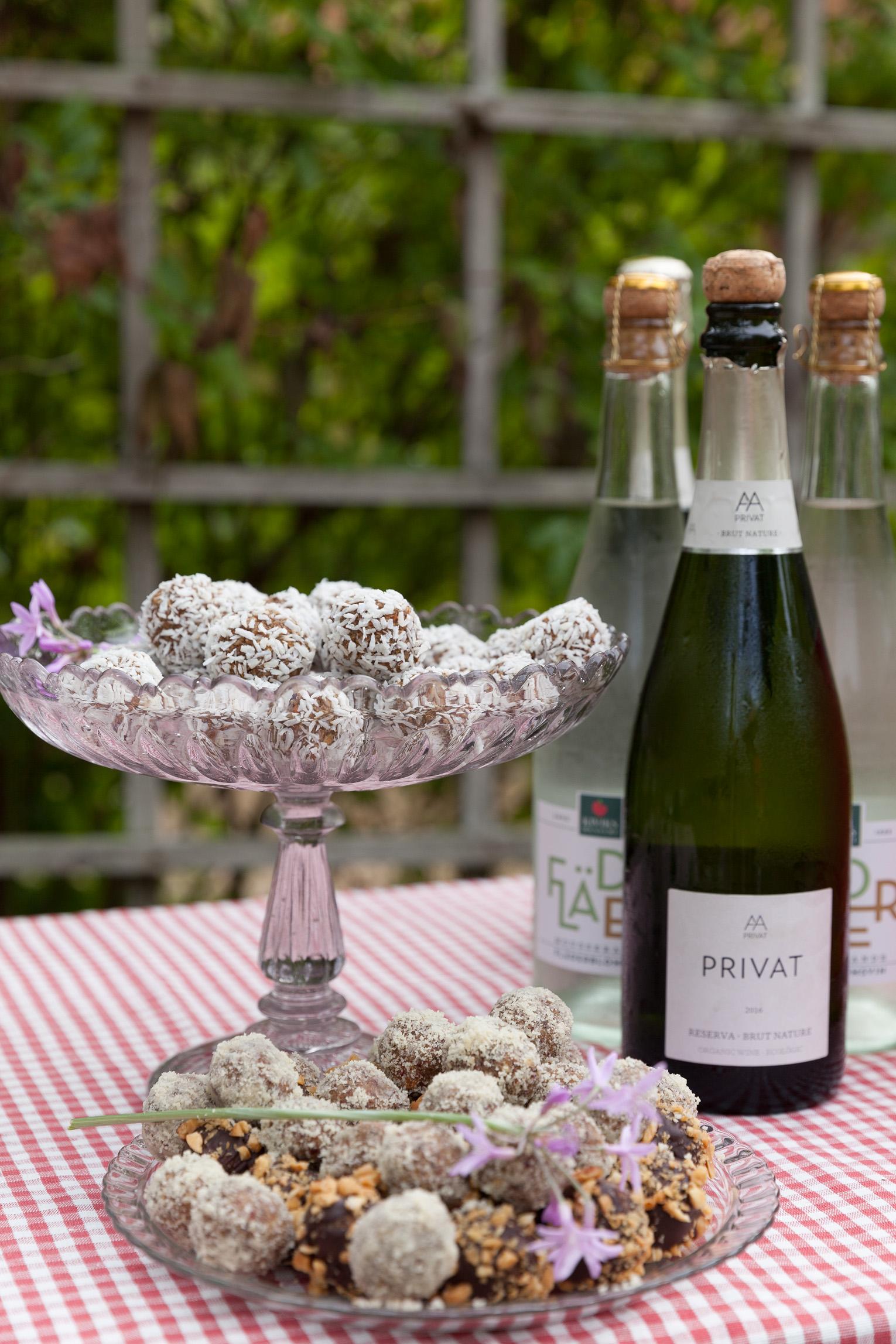 Rawfoodbollar champagne