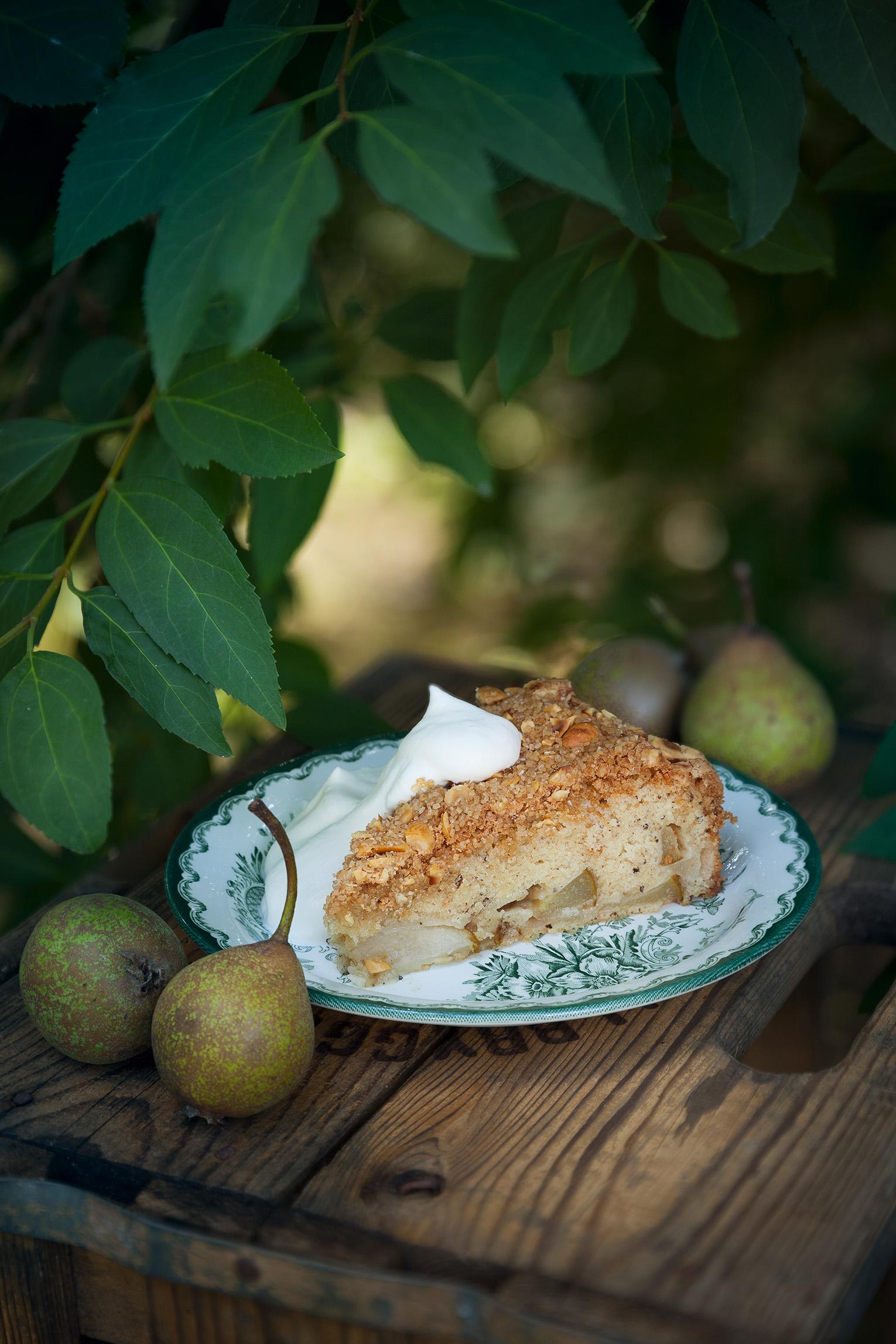 päronkaka med kardemumma