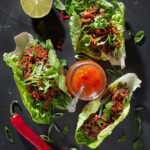 Asiatiska salladstacos