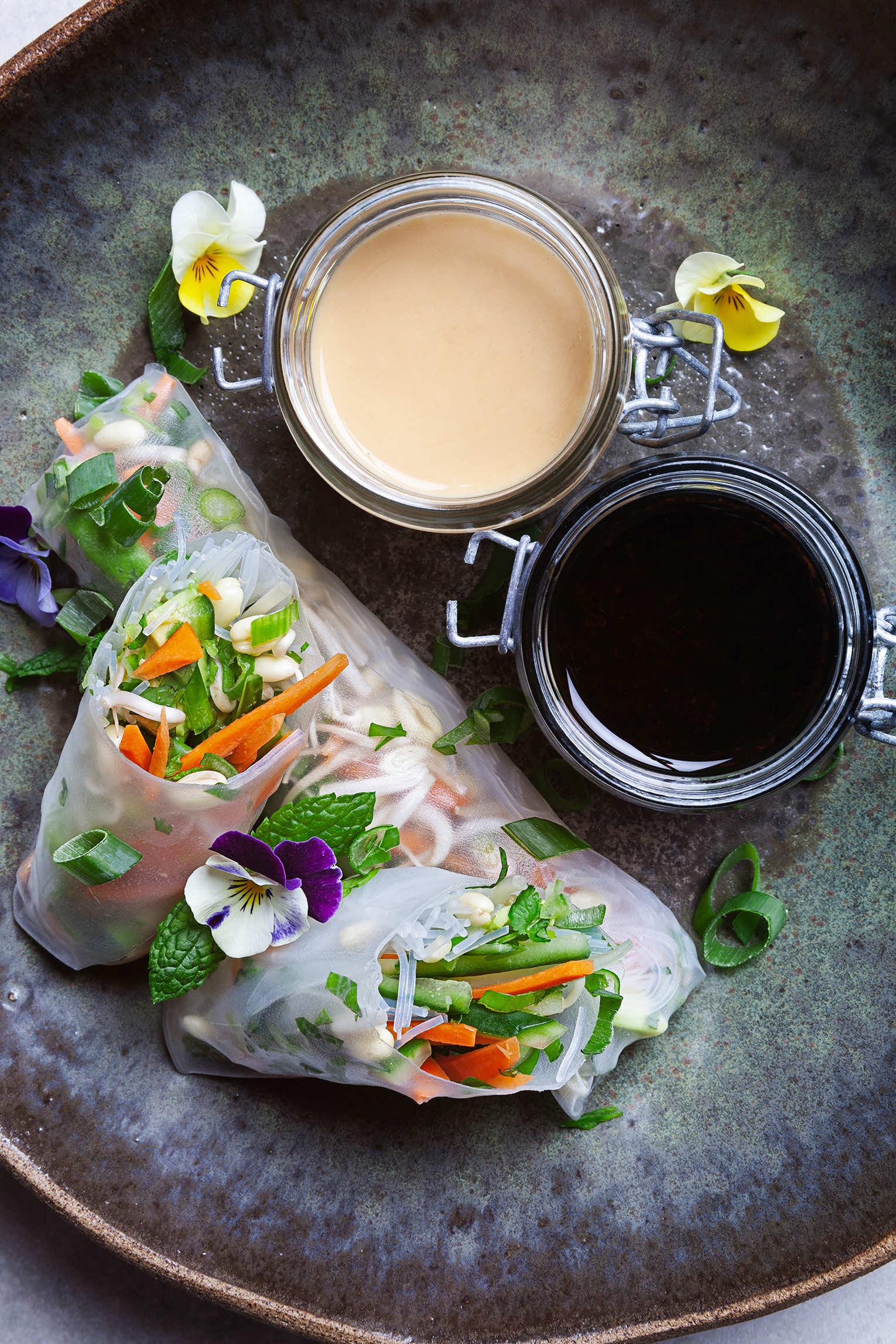 färska vårrullar recept