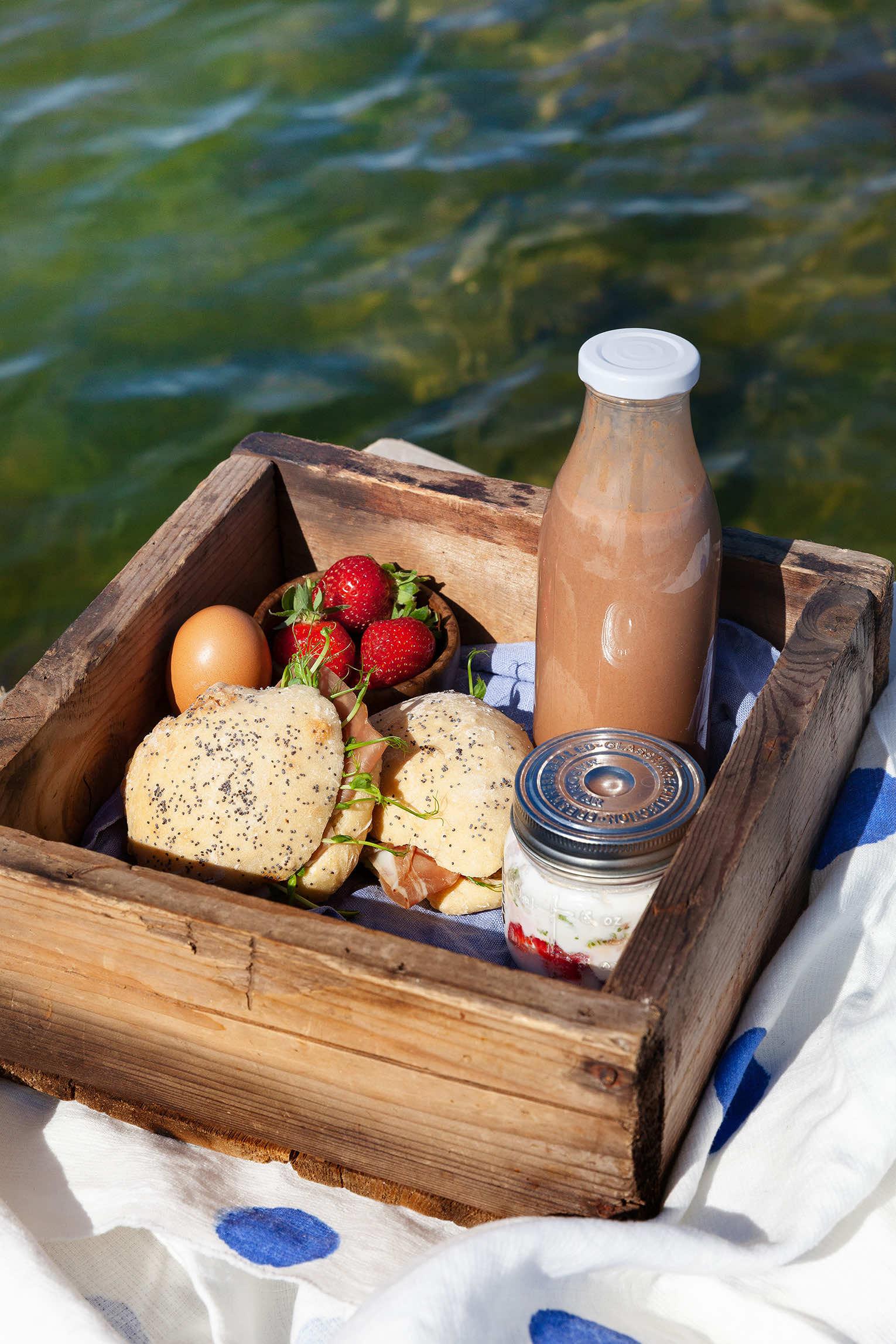 Picknick frukost