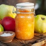 Äppelmarmelad-vanilj-salt-karamell