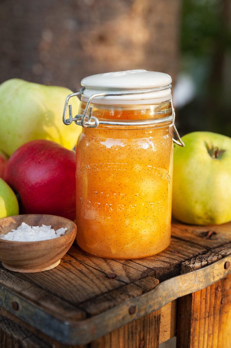 Äppelmarmelad salt karamell
