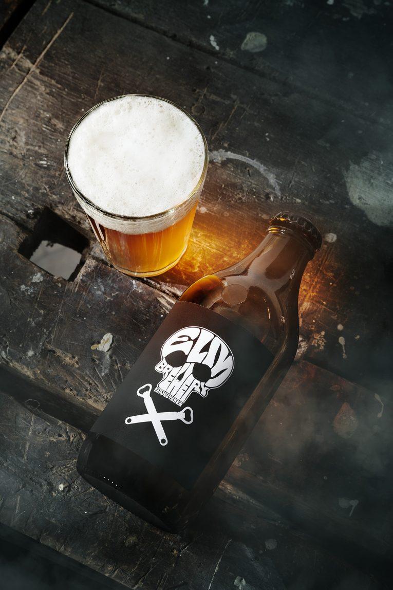 Öletikett logo dödskalle