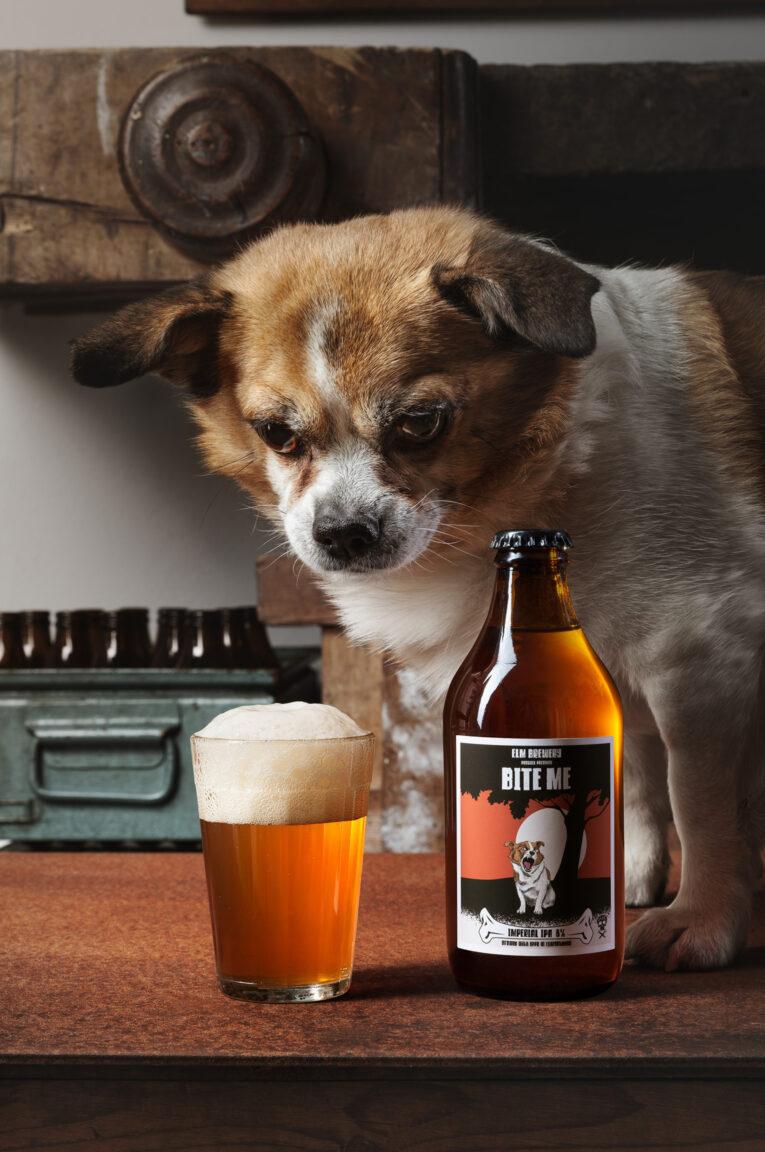 Öletikett med hund