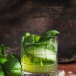 Gin och tonic med basilika och gurka