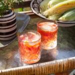 Drink med gin, rosé och grapefrukt