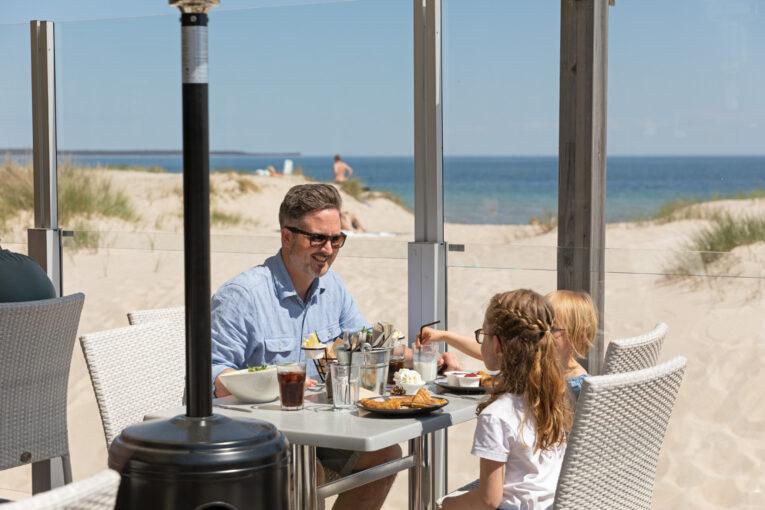 Böda Beach Club lunch