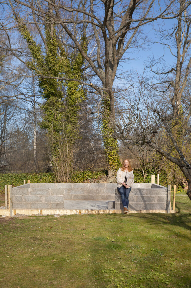 Mur till växthus